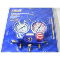 Манометрический коллектор двух вентильный VALUE VMG -2-R22